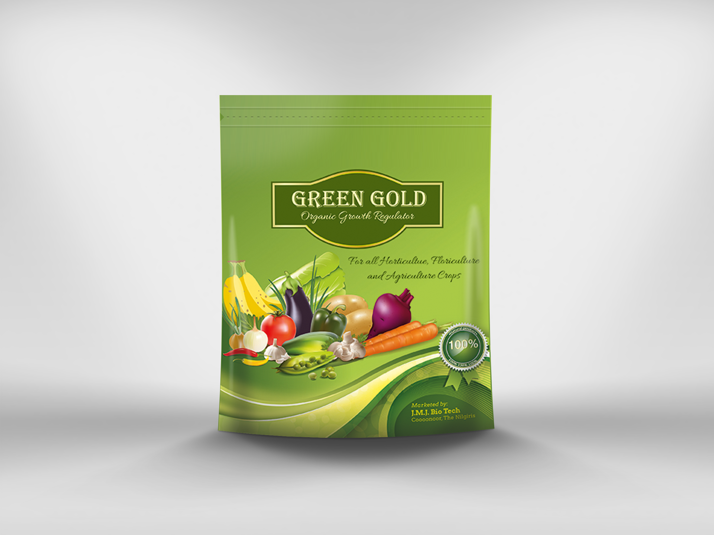 Impressions In Green Gold Package Design Impressions In